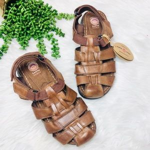 Earth Spirit• NWT Fisherman Brown Leather Sandals